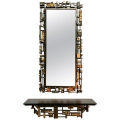 Brutal Mirror and Console Table by Syroco