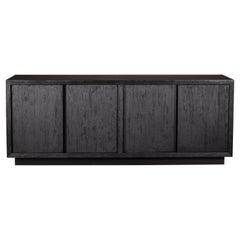 Brutal Black Oak / Walnut Textured Sideboard