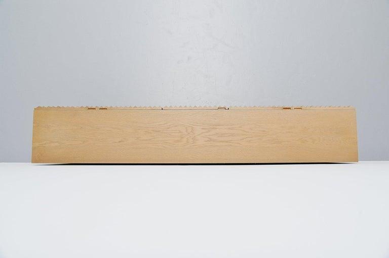 Belgian Brutalist Credenza with Graphic Oak Doors, Belgium, 1970 For Sale