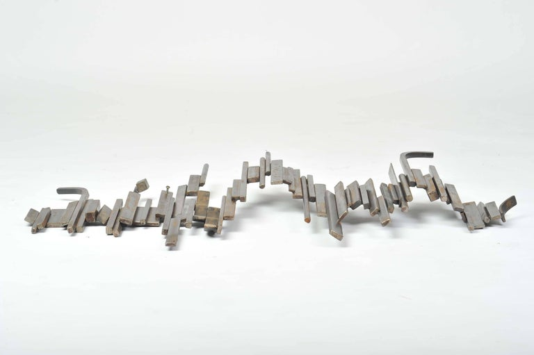 Brutalist Abstract Geometrical Relief in Metal In Excellent Condition For Sale In London, GB
