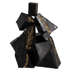 Brutalist Abstract Sculpture by Thea Wisser