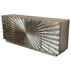 Brutalist Aluminum Wrapped Sideboard, Attributed to Marvin Arenson, 1970s