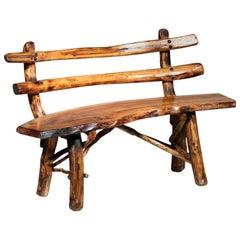 Brutalist Bench Solid Pine Sculptural