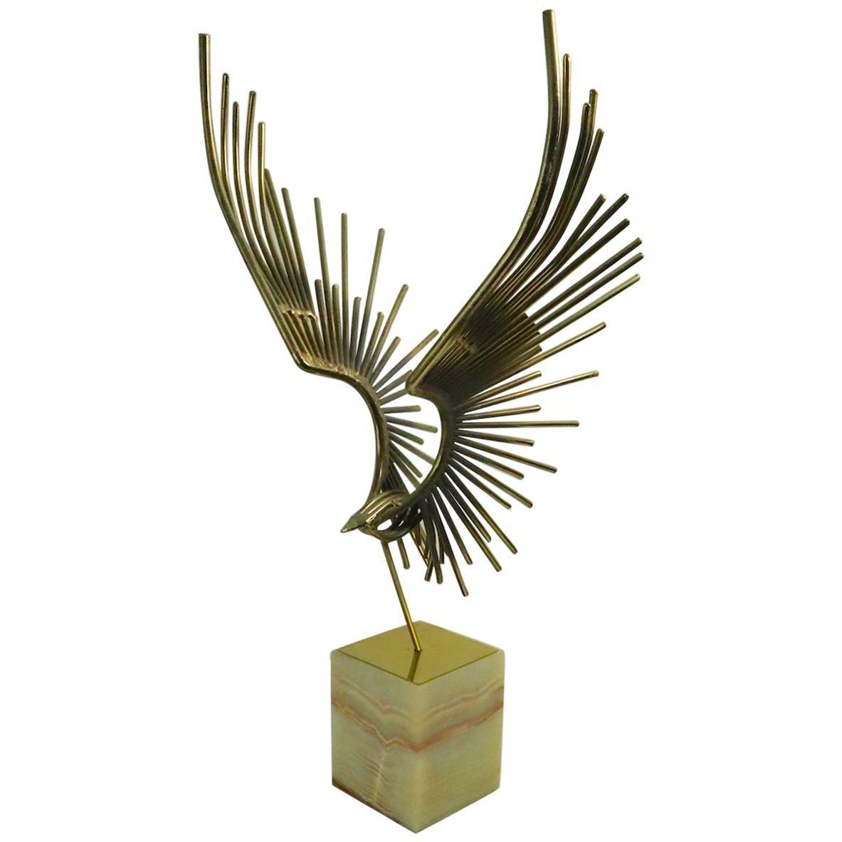 Brutalist Bird in Flight Sculpture by Jere