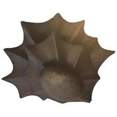Brutalist Brass 3-Tier Chandelier