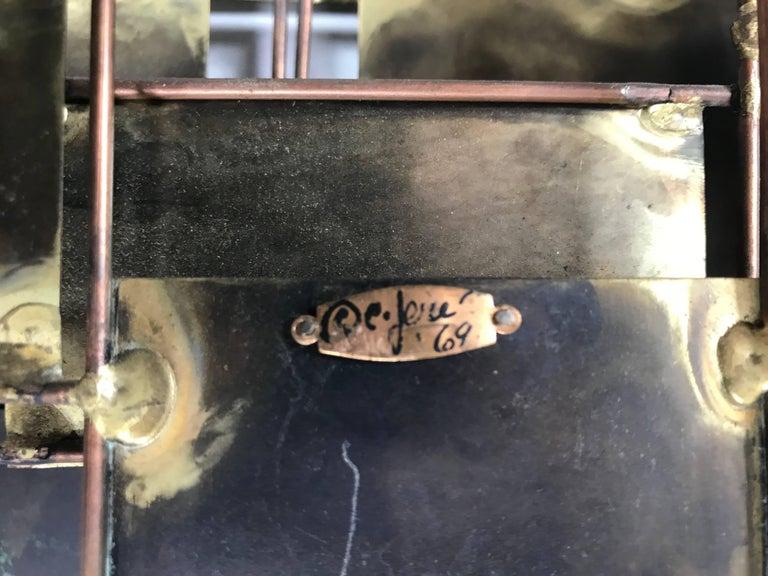 Metal Brutalist Brass and Copper Wall Sculpture