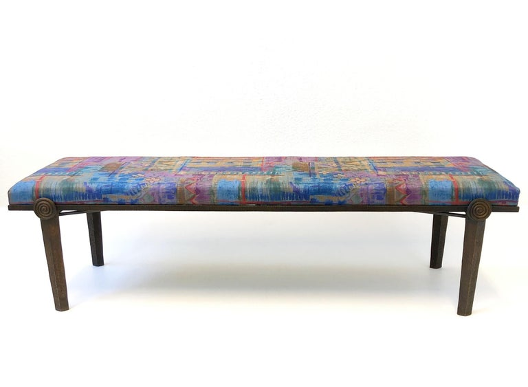 Brutalist Bronze Bench by Steve Chase For Sale 5