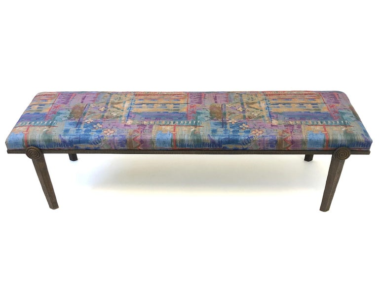 Brutalist Bronze Bench by Steve Chase For Sale 7