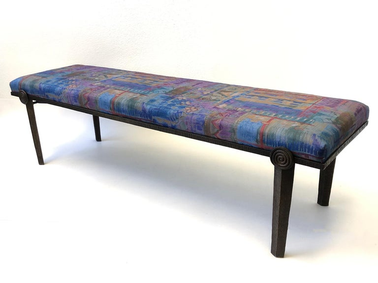 Brutalist Bronze Bench by Steve Chase For Sale 8