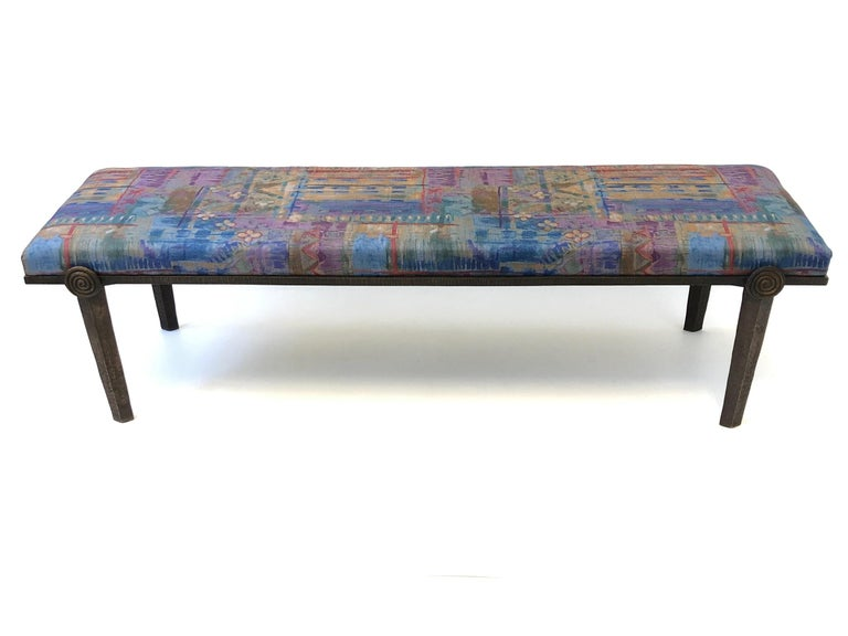 American Brutalist Bronze Bench by Steve Chase For Sale