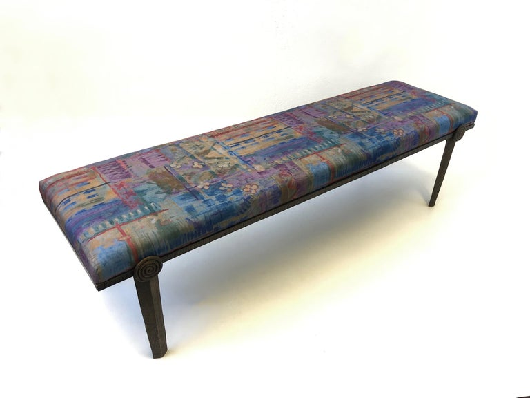 Brutalist Bronze Bench by Steve Chase In Excellent Condition For Sale In Palm Springs, CA