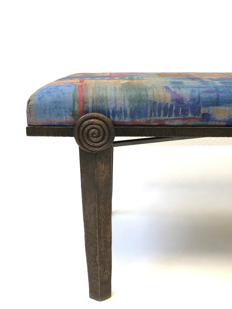Brutalist Bronze Bench by Steve Chase For Sale 1