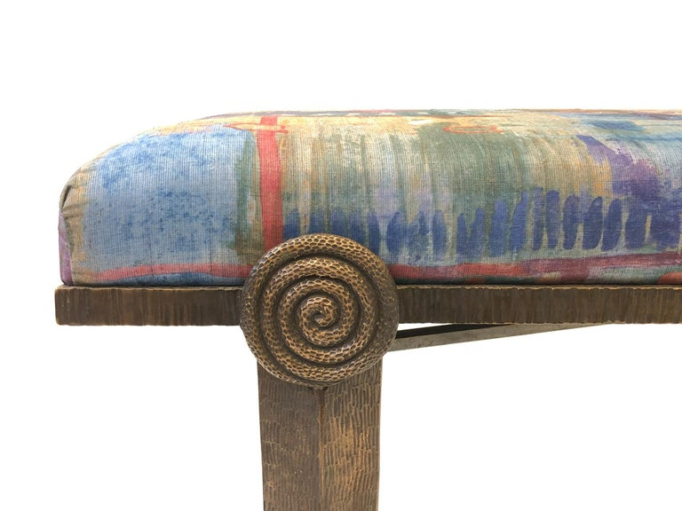 Brutalist Bronze Bench by Steve Chase For Sale 2
