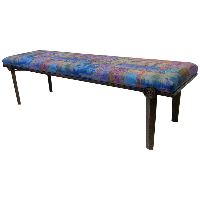 Brutalist Bronze Bench by Steve Chase For Sale