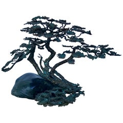 Brutalist Bronze Bonsai Sculpture