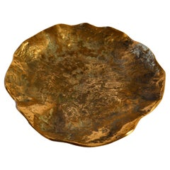Brutalist Bronze Cast Fruit Bowl