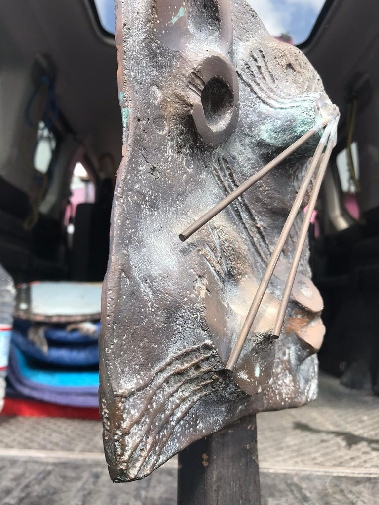 Brutalist Bronze Sculpture Relief, 20th Century In Good Condition For Sale In Los Angeles, CA