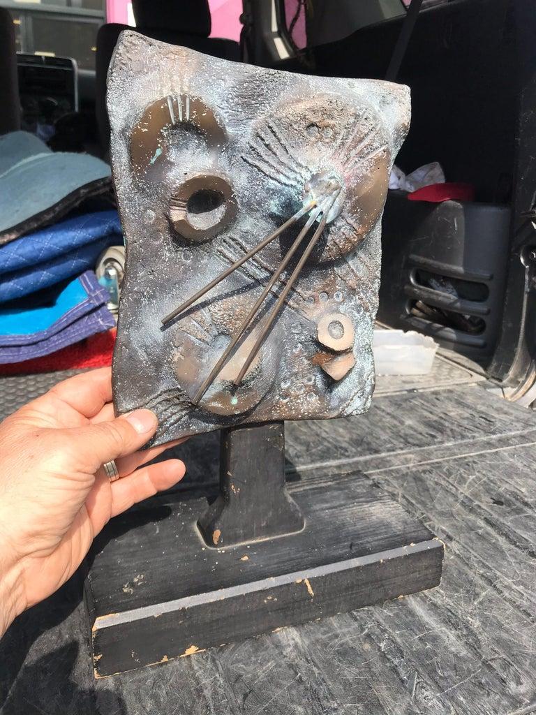 Brutalist Bronze Sculpture Relief, 20th Century For Sale 2