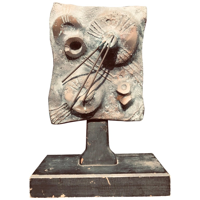 Brutalist Bronze Sculpture Relief, 20th Century For Sale