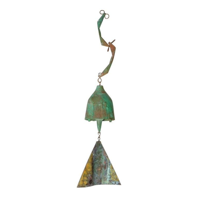 Brutalist Bronze Wind Chime by Paolo Soleri For Sale 8