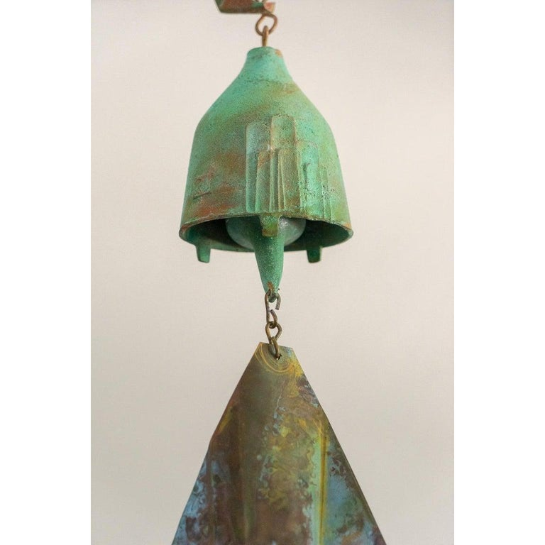 Brutalist Bronze Wind Chime by Paolo Soleri For Sale 2