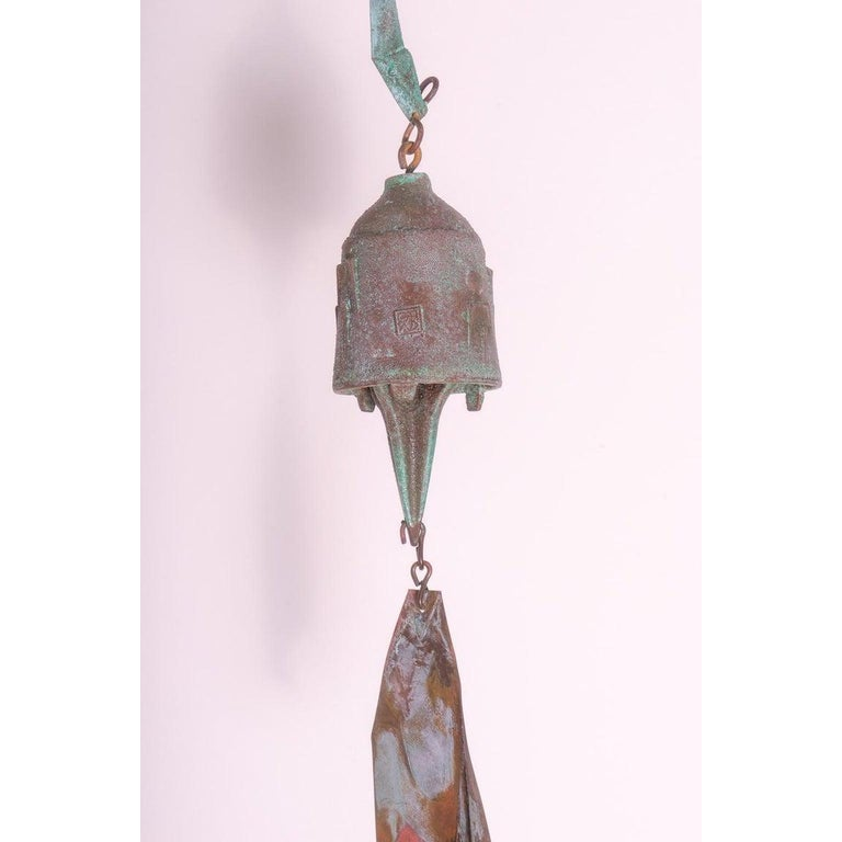 Brutalist Bronze Wind Chime by Paolo Soleri For Sale 1