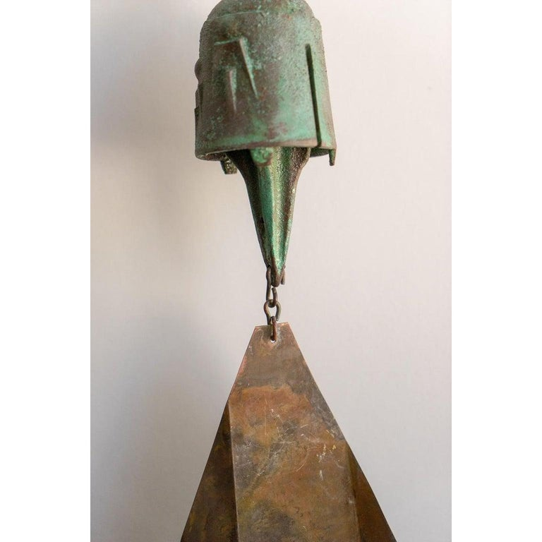 Brutalist Bronze Wind Chime by Paolo Soleri For Sale 4