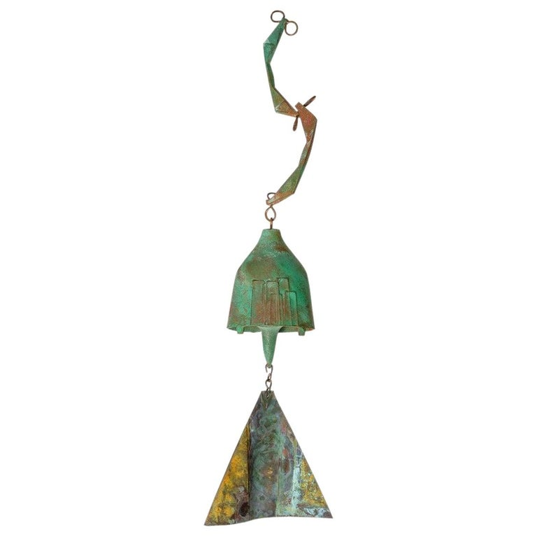 Brutalist Bronze Wind Chime by Paolo Soleri For Sale