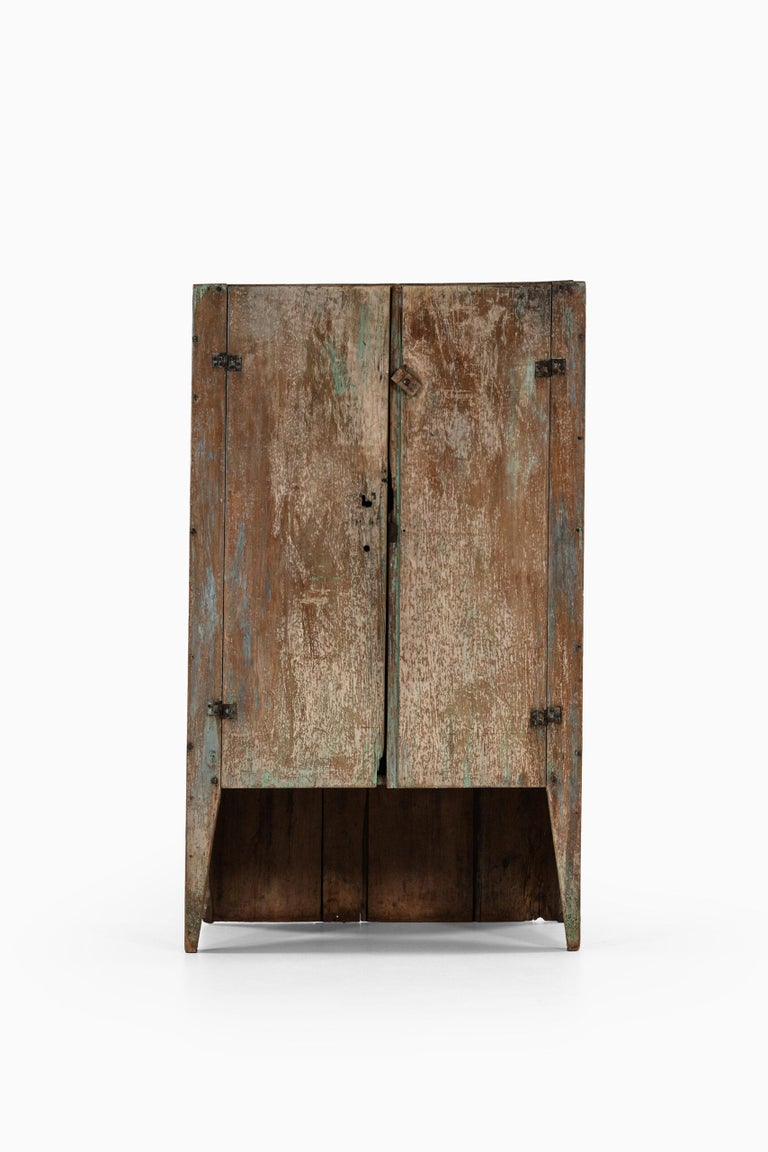 Rare and brutalist cabinet by unknown designer.