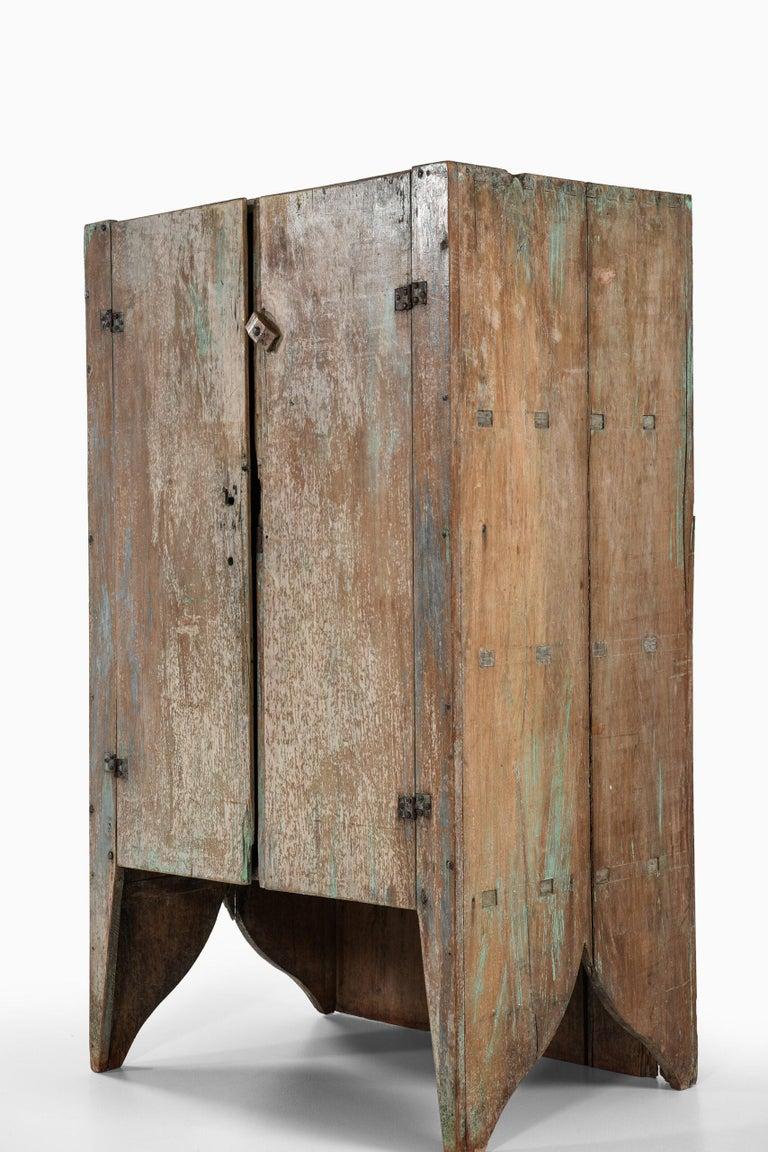 European Brutalist Cabinet by Unknown Designer For Sale