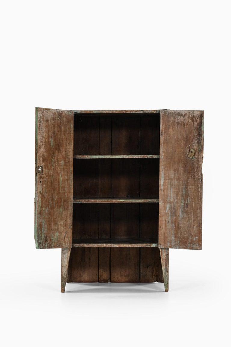 Wood Brutalist Cabinet by Unknown Designer For Sale