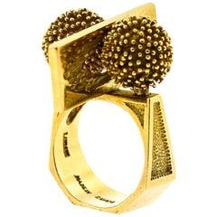 Brutalist  Cartier Designer Lucas 18 Karat Ring