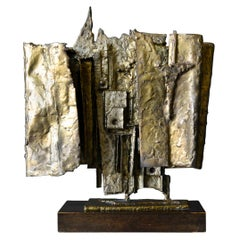 Brutalist Cast Bronze Sculpture, 1964