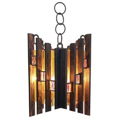 Brutalist Ceiling Lamp by Longobard Italy