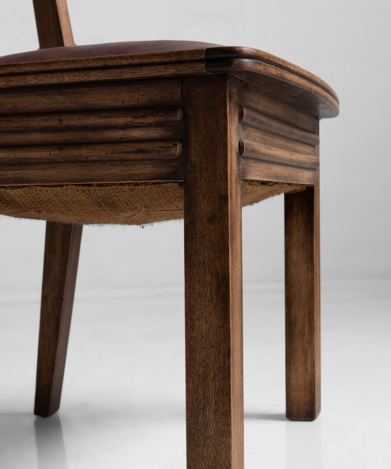 Wood Brutalist Chair, France, circa 1950 For Sale