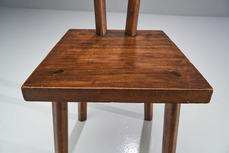 Brutalist Chair, France, circa 1950s For Sale 4