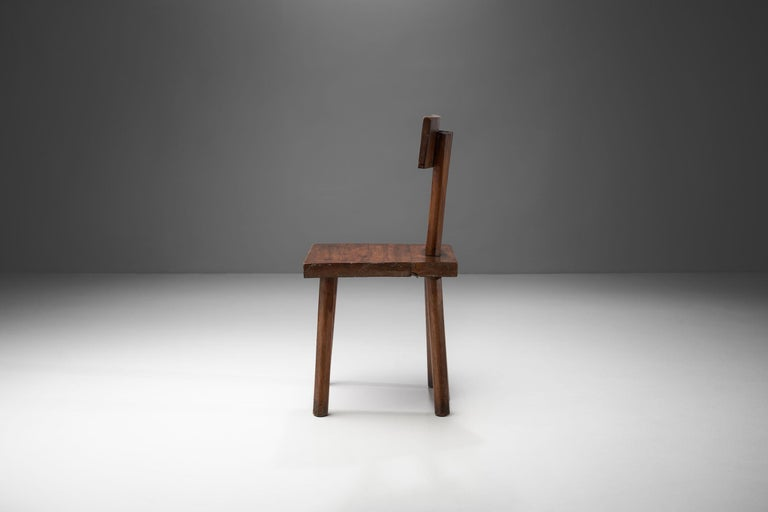 French Brutalist Chair, France, circa 1950s For Sale