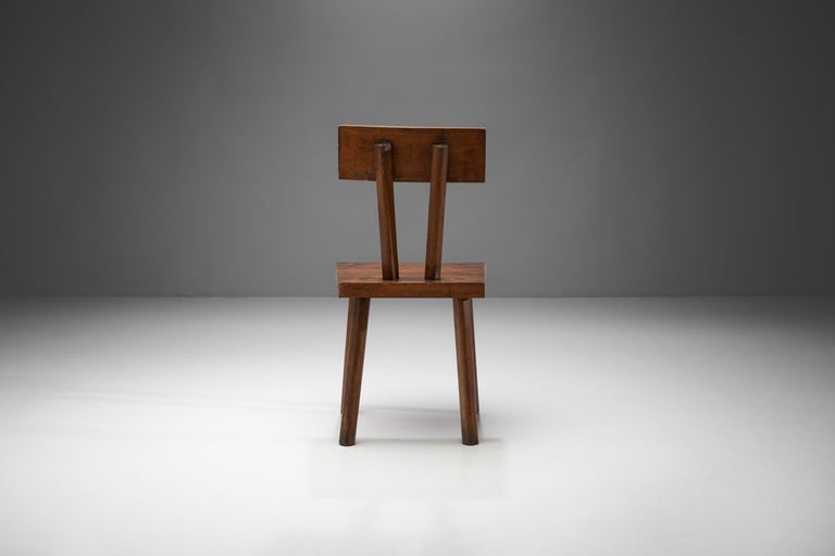 Mid-20th Century Brutalist Chair, France, circa 1950s For Sale