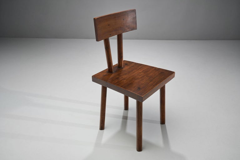 Brutalist Chair, France, circa 1950s For Sale 1