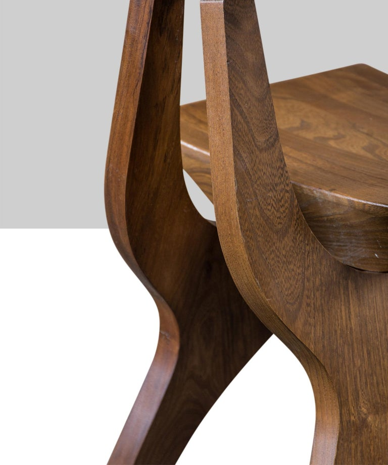 Hardwood Brutalist Chairs For Sale