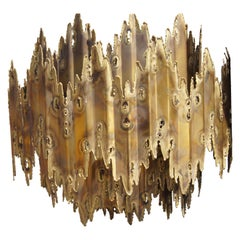 Brutalist Chandelier by Tom Greene for Feldman Lighting