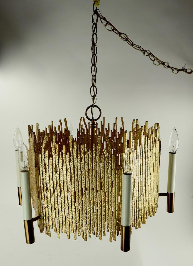Brutalist Chandelier In Good Condition For Sale In New York, NY