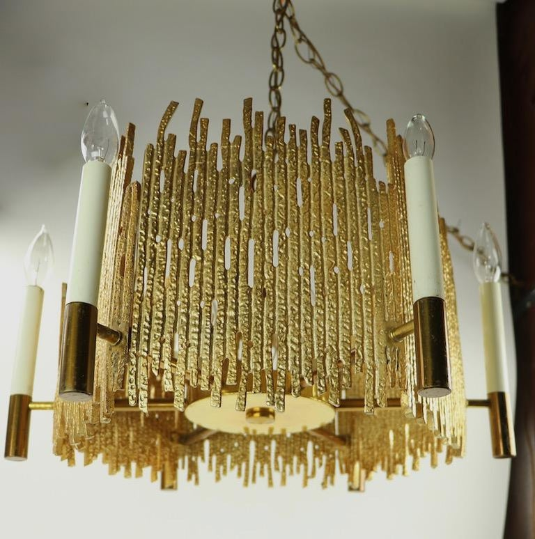 20th Century Brutalist Chandelier For Sale
