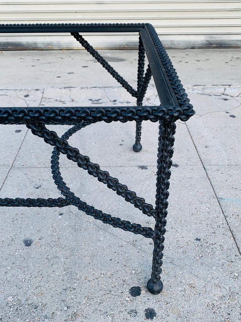 Brutalist Coffee Table Base, Chains on Me For Sale 3