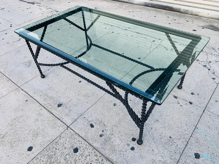 American Brutalist Coffee Table Base, Chains on Me For Sale