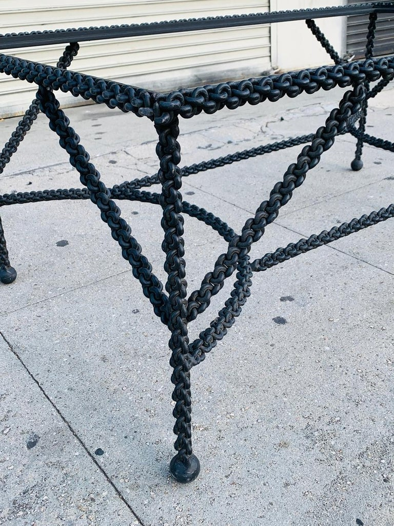 Brutalist Coffee Table Base, Chains on Me In Good Condition For Sale In Los Angeles, CA