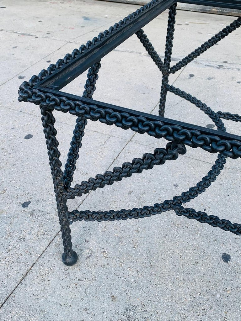 Late 20th Century Brutalist Coffee Table Base, Chains on Me For Sale