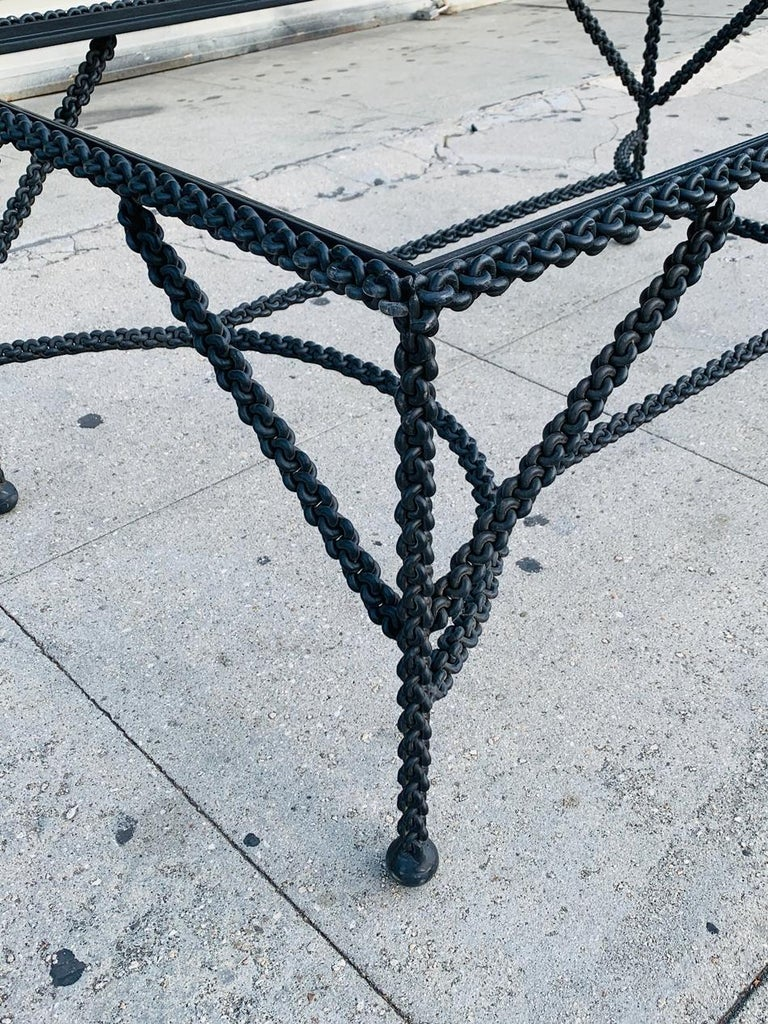 Steel Brutalist Coffee Table Base, Chains on Me For Sale