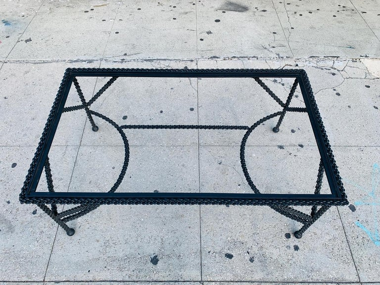 Brutalist Coffee Table Base, Chains on Me For Sale 1