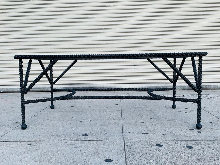 Brutalist Coffee Table Base, Chains on Me For Sale 2